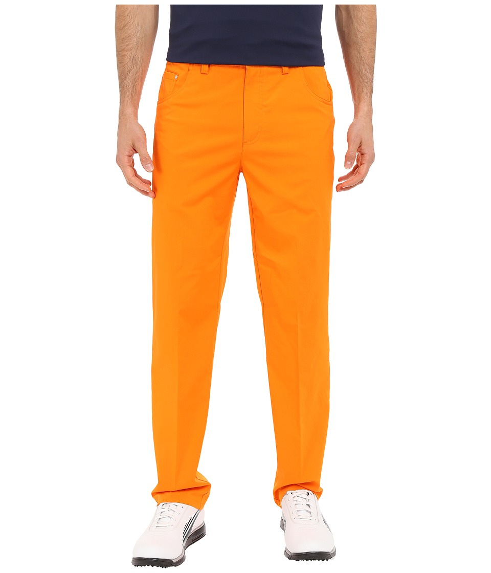 PUMA Golf 6 Pocket Pants Vibrant Orange Mens Casual Pants