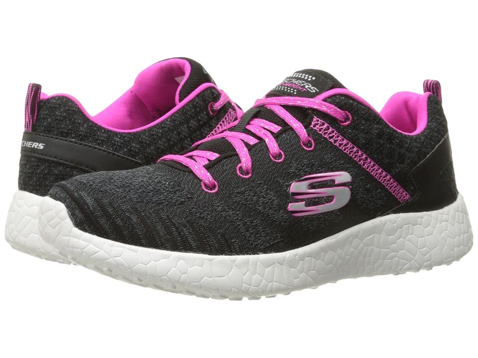 SKECHERS KIDS Burst 81905L Little Kid/Big Kid Black/Hot Pink Girls Shoes
