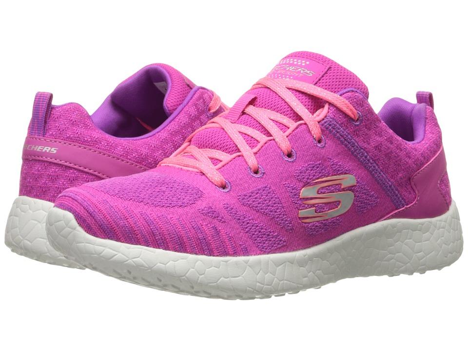 SKECHERS KIDS Burst 81905L Little Kid/Big Kid Hot Pink/Coral Girls Shoes