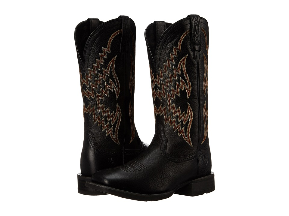 Ariat Tycoon (Black Deertan) Cowboy Boots
