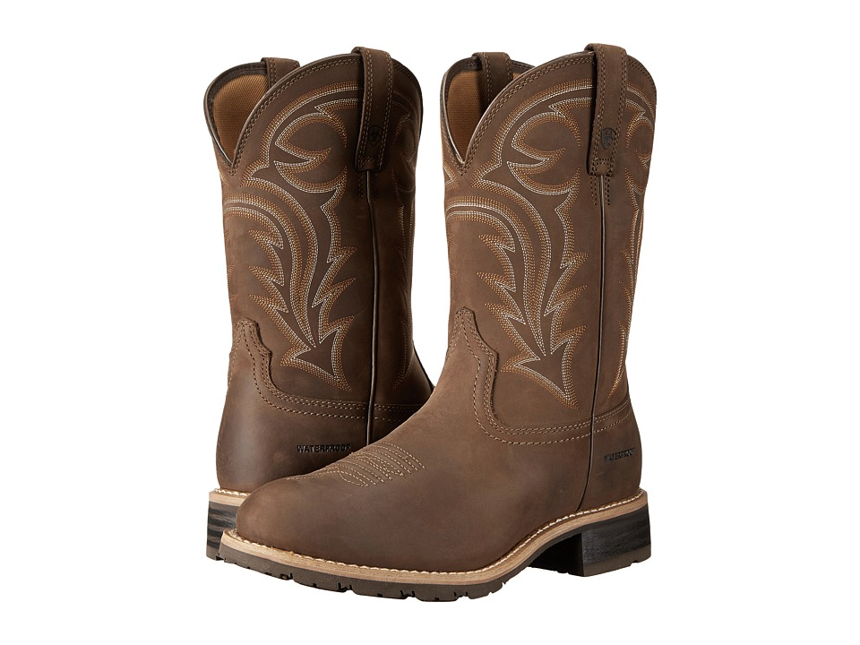 Ariat Hybrid Rancher H2O (Distressed Brown) Cowboy Boots