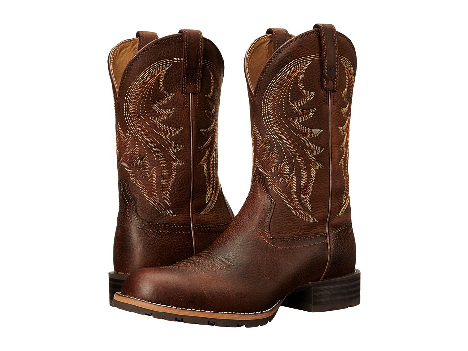 Ariat - Hybrid Rancher (Brown Oiled Rowdy 2) Cowboy Boots