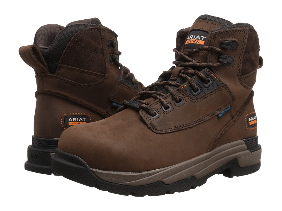 Ariat Mastergrip 6 H2O CT (Oily Distressed Brown CT) Men'...