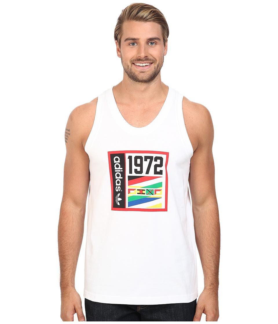 adidas Originals - 1972 Track Tank Top (White) Men