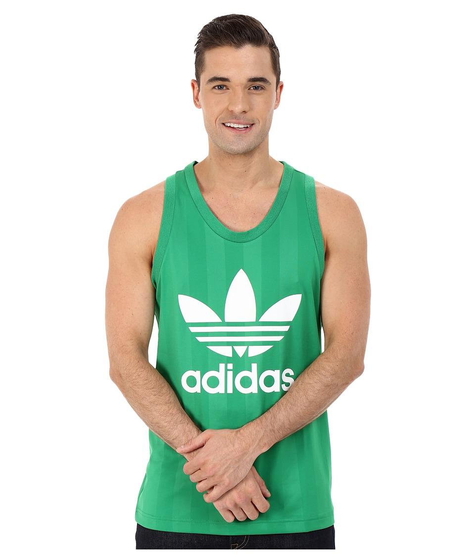 adidas Originals Trefoil Tank Top Green/White Mens Sleeveless