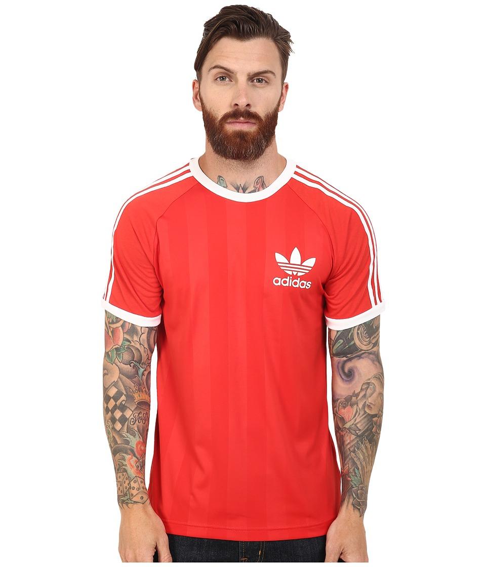 adidas Originals - California Tee (Lush Red/White) Men