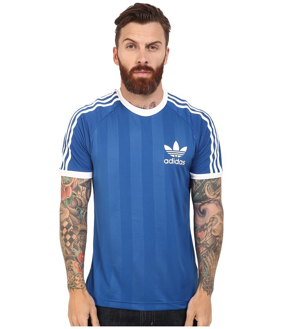 adidas Originals - California Tee (Equipment Blue/White) Men