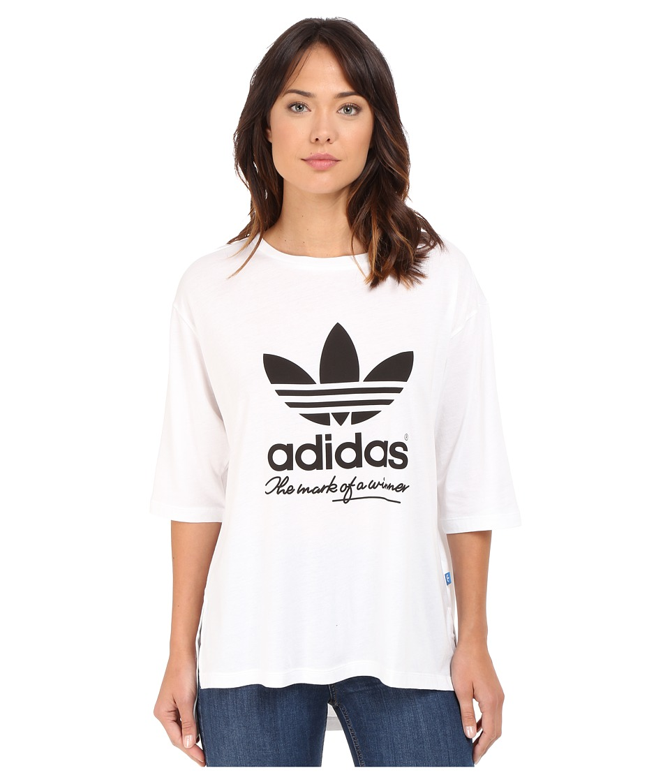 adidas Originals - Football Winner Tee (White/Black) Women