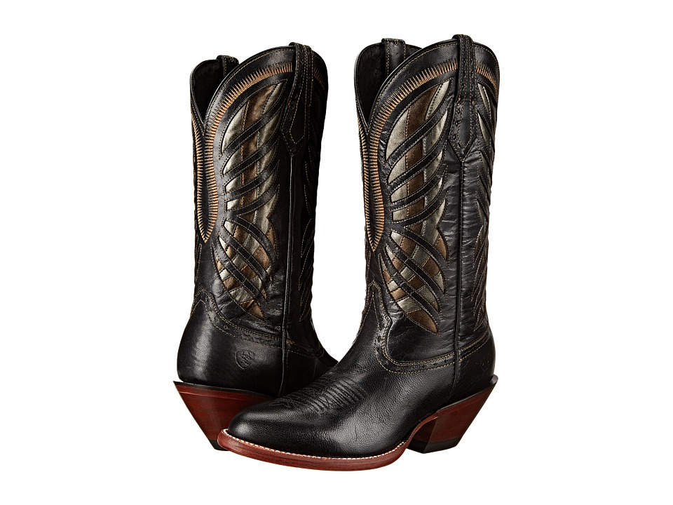 Ariat - Gentry (Rustic Black) Cowboy Boots