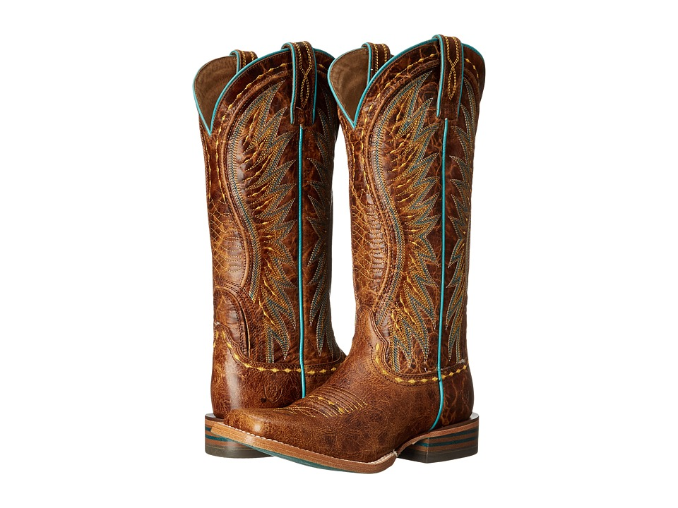 AriatVaquera  (Saddle Tan) Cowboy Boots