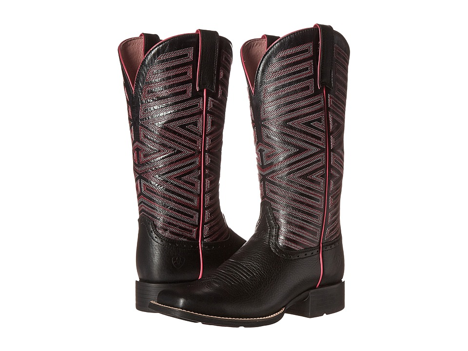 Ariat - Outsider (Black Deertan/Black) Cowboy Boots