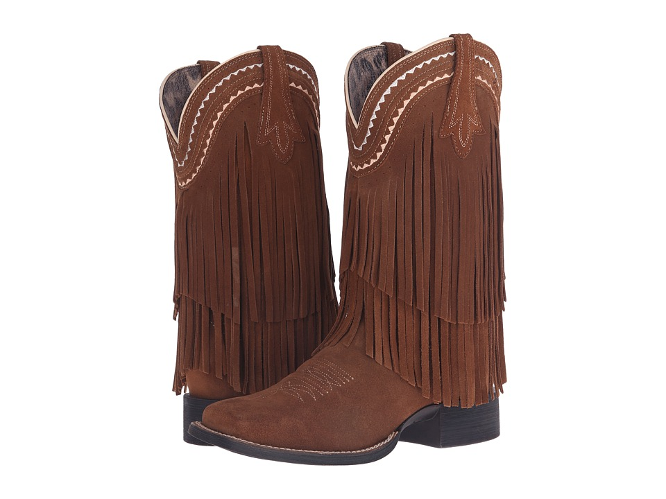 Ariat - Fringe Wide Square Toe (Powder Brown) Cowboy Boots