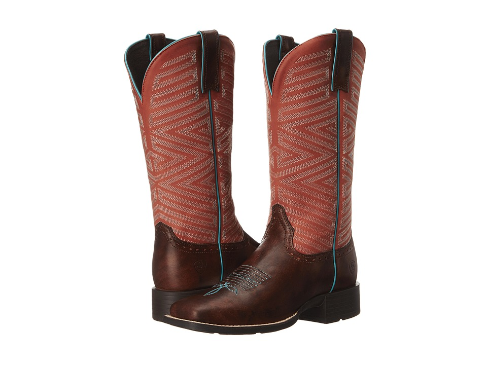 Ariat - Outsider (Yukon Brown/Fiery Red) Cowboy Boots