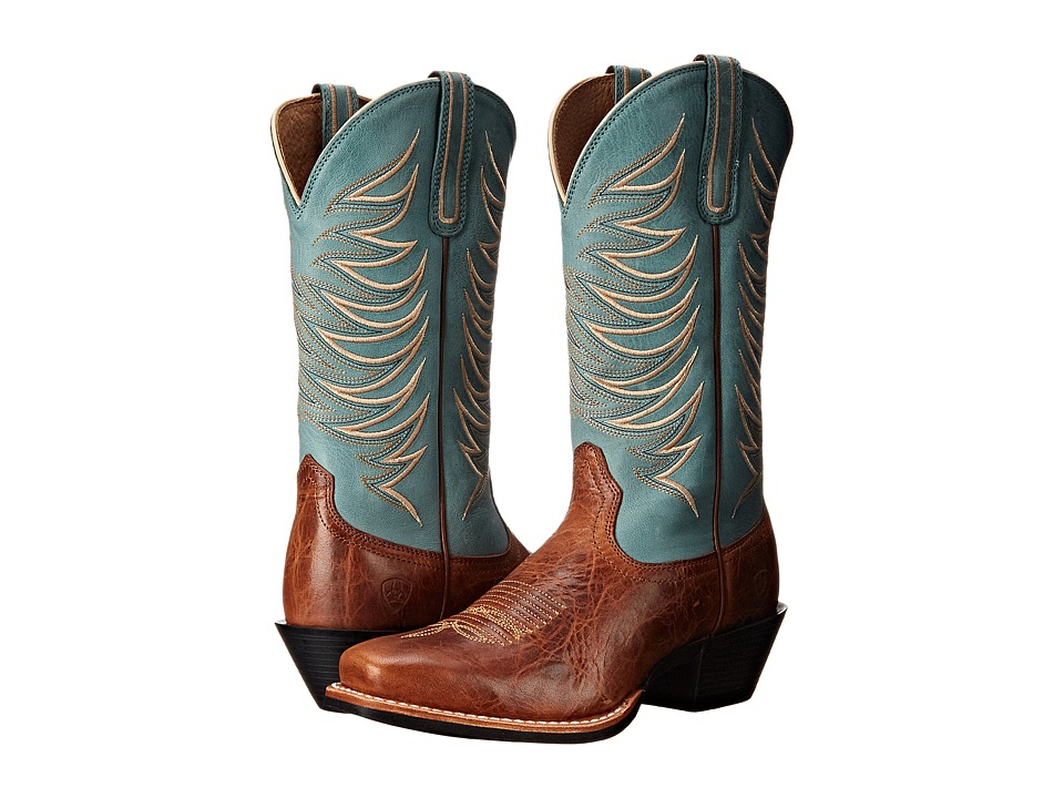 Ariat Legend Legacy (Gingersnap/Sky Blue) Cowboy Boots