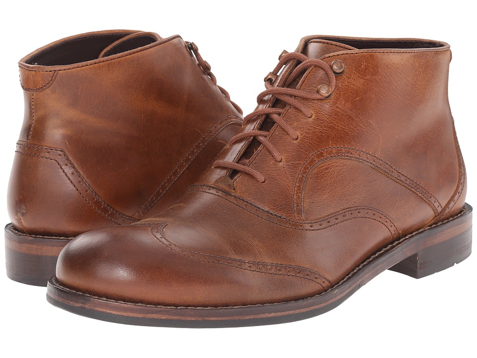 Wolverine 1000 Mile Wesley Wingtip Chukka Tan Mens Lace up Boots