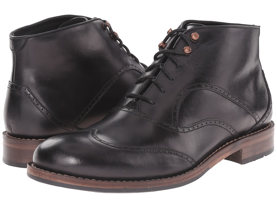 Wolverine 1000 Mile Wesley Wingtip Chukka Black Mens Lace up Boots