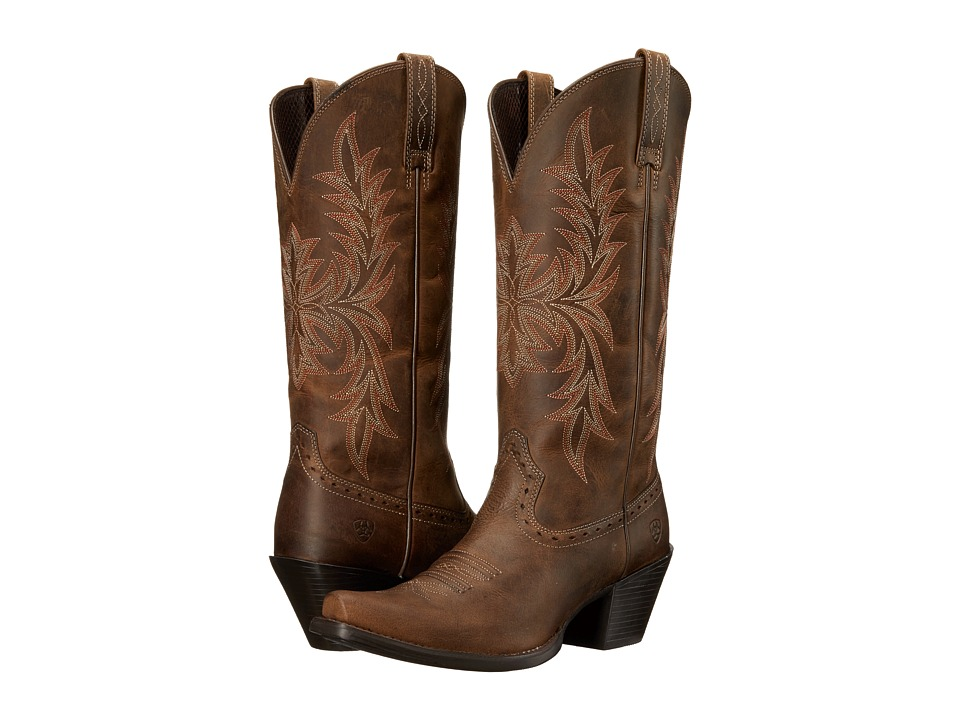 Ariat Round Up Maddox (Distressed Brown) Cowboy Boots