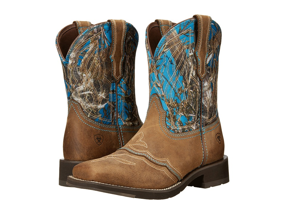 Ariat - Ranchbaby II (Distressed Brown) Cowboy Boots
