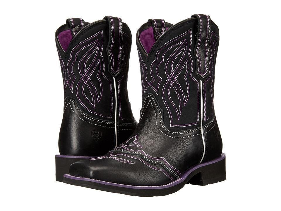 Ariat Ranchbaby II (Black/Purple) Cowboy Boots