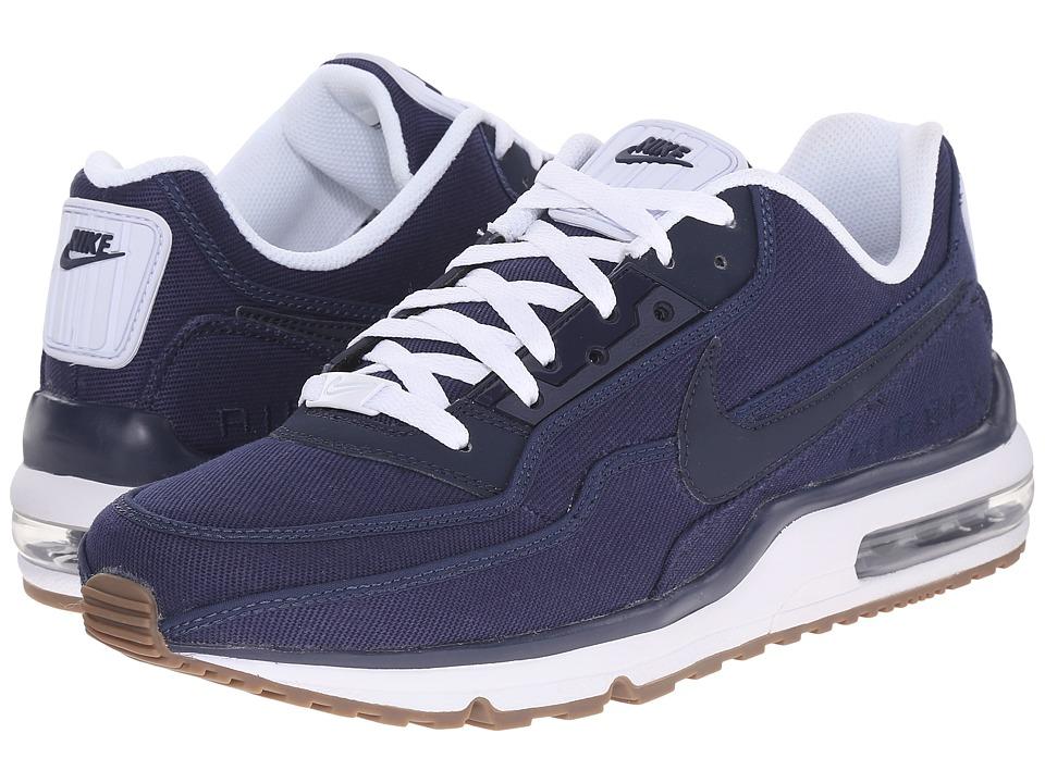 Nike - Air Max LTD 3 TXT (Midnight Navy/White/Gum Dark Brown/Obsidian) Mens  Shoes
