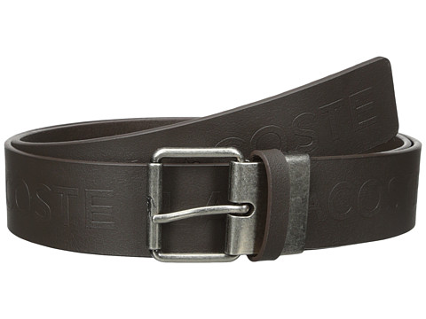 lacoste all embossed logo belt brown 6pm