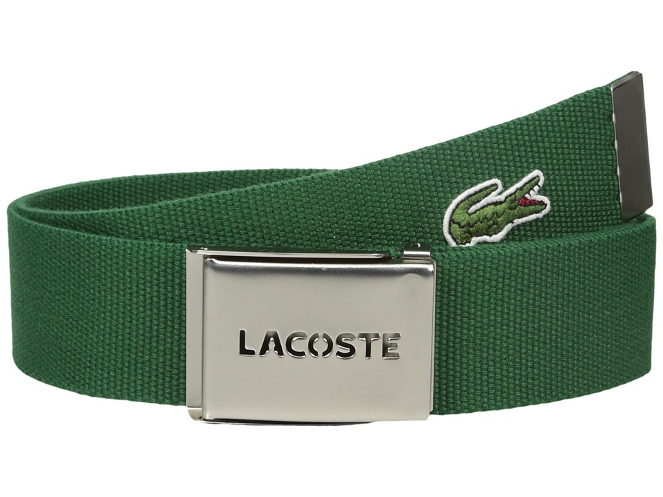 Lacoste 40mm Gift Box Woven Strap Green Mens Belts