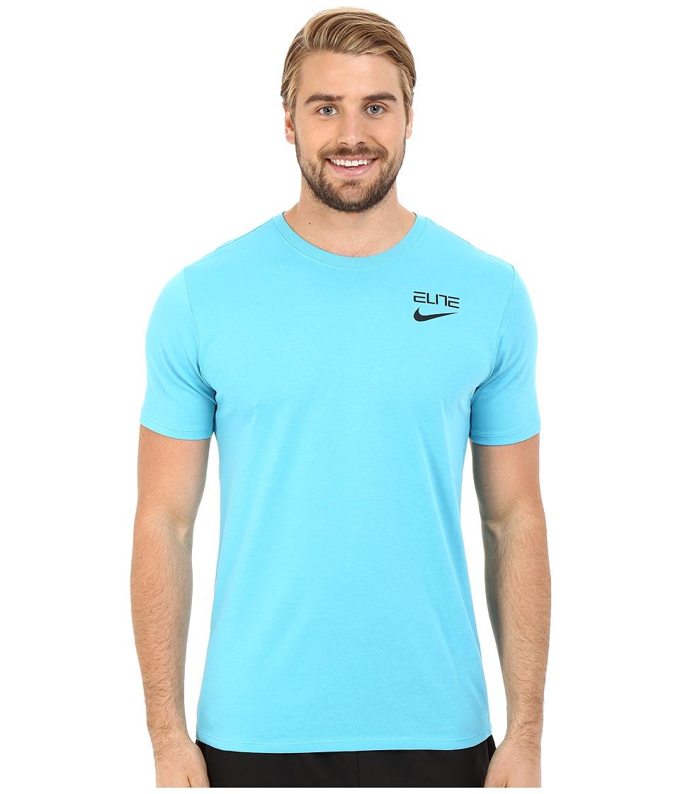 Nike - Elite Back Stripe Tee (Omega Blue) Men