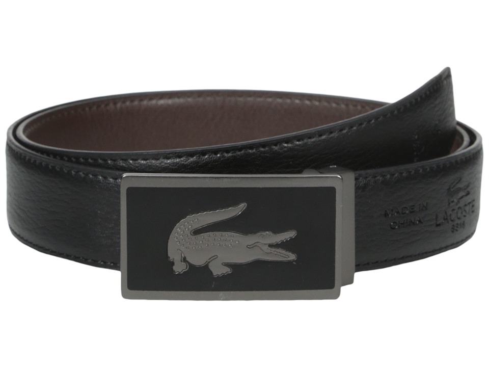 Lacoste 30mm Gift Box 2 Buckles Black/Brown Mens Belts