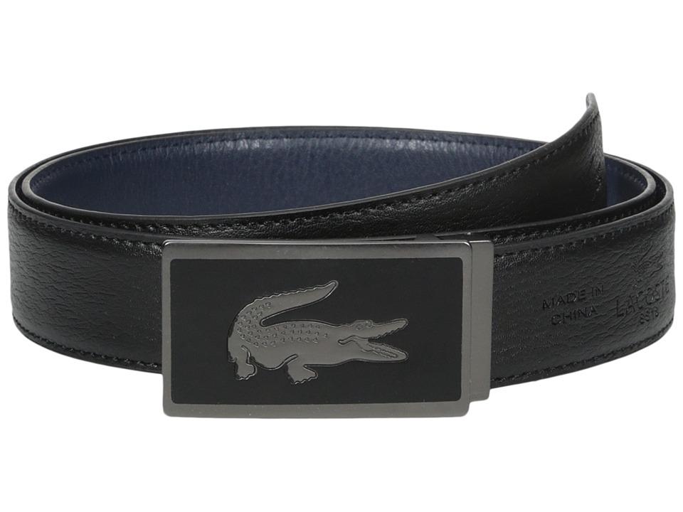 Lacoste 30mm Gift Box 2 Buckles Black/Navy Mens Belts