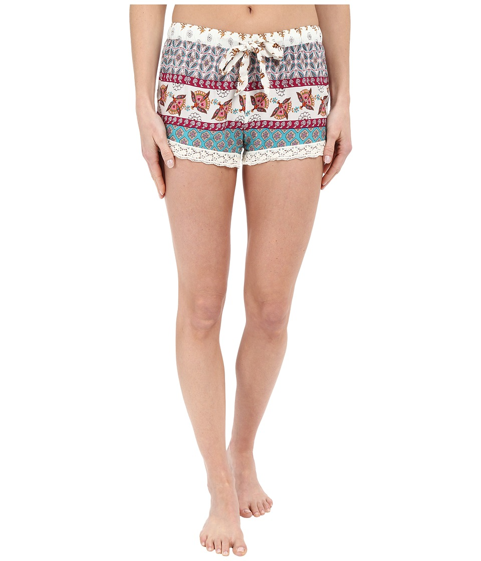 P.J. Salvage Challe Chic Boho Print Shorts Natural Womens Pajama