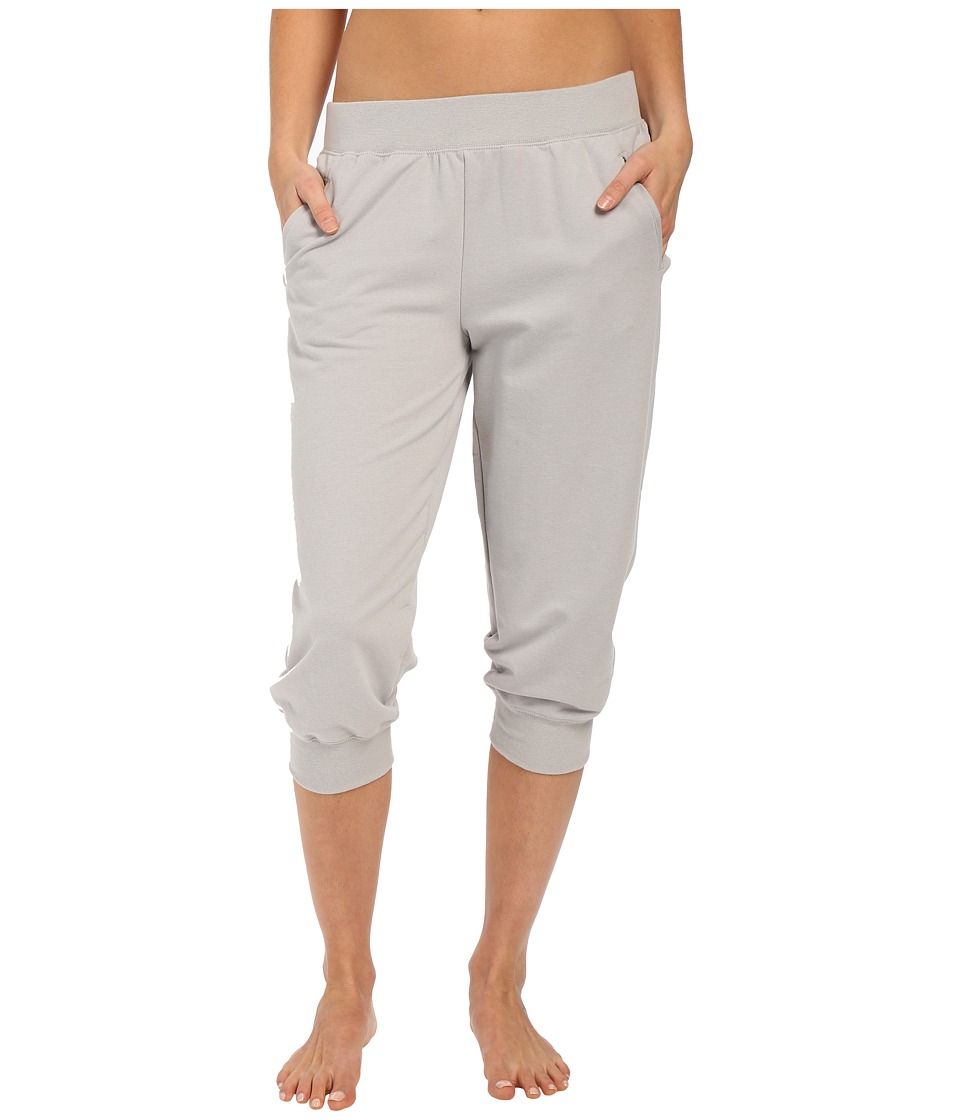 Yummie by Heather Thomson Baby French Terry Capris Light Gray Womens Capri