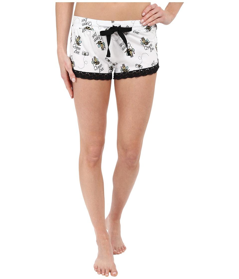 P.J. Salvage Queen Bee PJ Shorts Ivory Womens Pajama