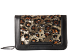 French Connection Vanessa Clutch (Black/Leopard Lamb PU/Sequins)