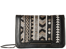 French Connection Vanessa Clutch (Black/Deco Lamb PU/Sequins)