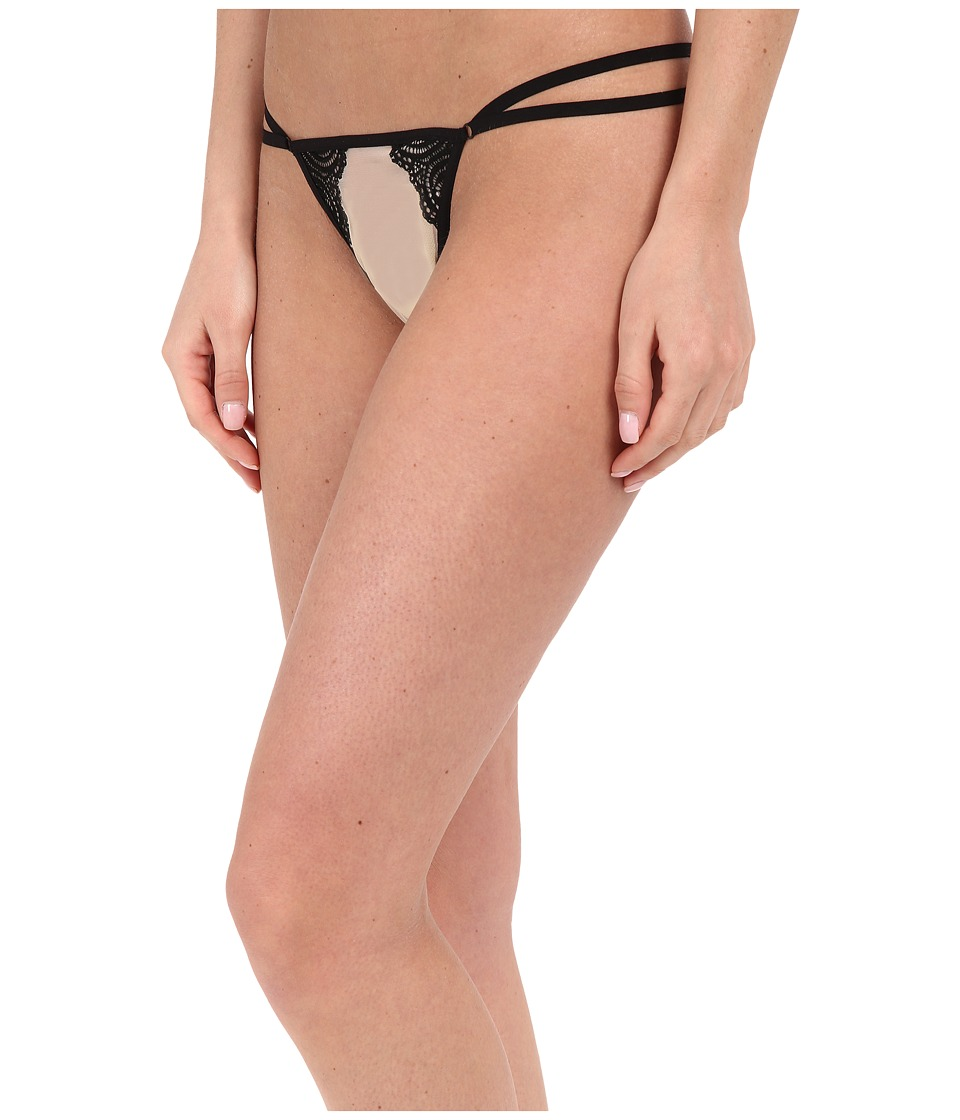 Cosabella Bisou Peacock G String BISOU0230 Nude/Black Womens Underwear