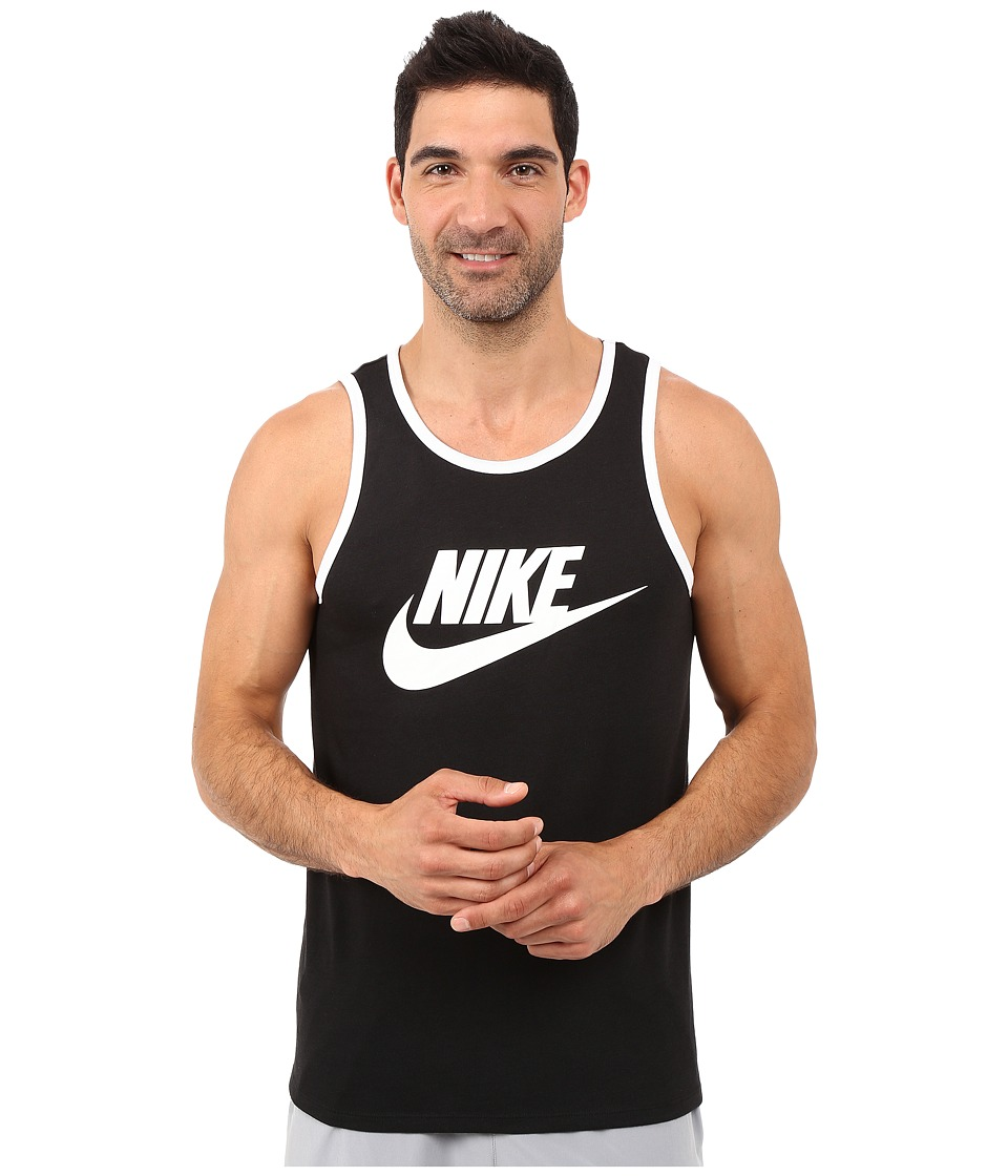 Nike Ace Logo Tank Top (Black/White/White) Men