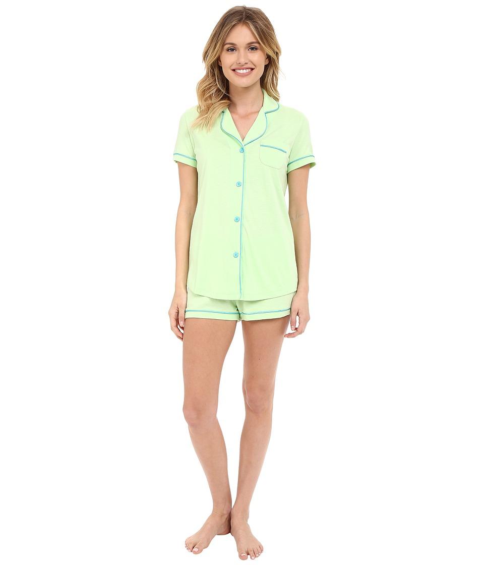 Cosabella Bella S/S Top Boxer Pajama Set Paradise Green/Blue Mediterraneo Womens Pajama Sets