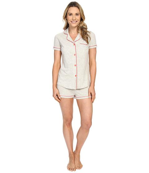 Cosabella Bella Texture Short Sleeve Top and Boxer Pajama AMORS9621