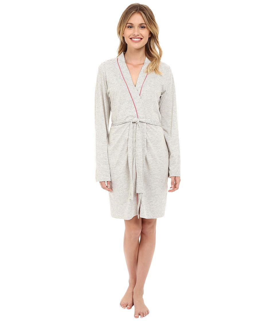 Cosabella Bella Texture Robe AMORS8091 Heather Grey/Geranium Pink Womens Robe