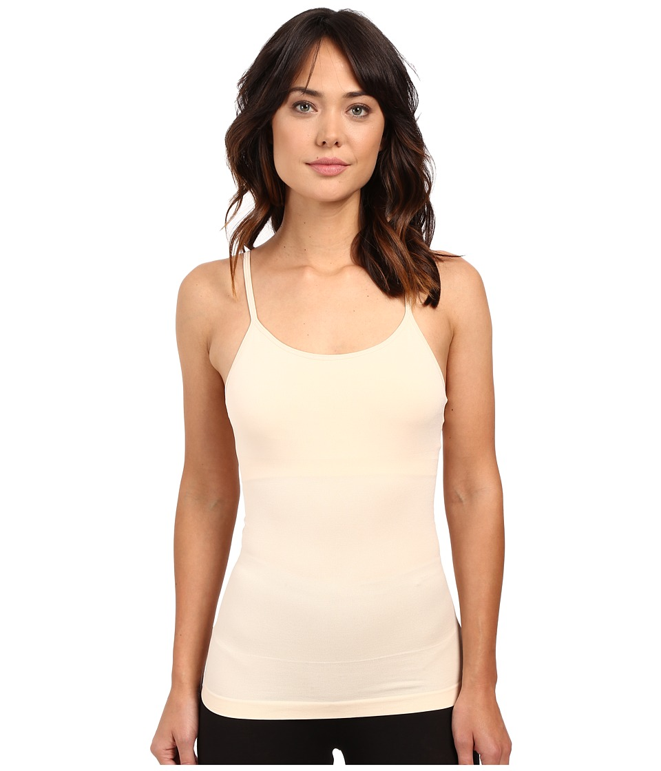 Yummie by Heather Thomson Amelia Seamlessly Shaped Nylon Everyday Shelf Camisole Nude Womens Sleeveless