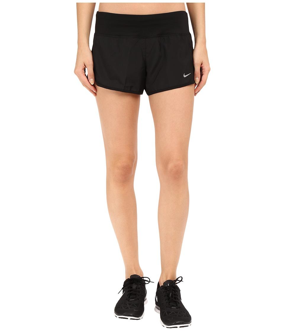 Nike Crew Shorts (Black/Black/Reflective Silver) Women