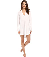 Yummie by Heather Thomson - Cotton Viole Mandarin Collar Nightshirt