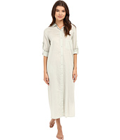 Yummie by Heather Thomson - Cotton Voile Mandarin Button Down Dress w/ Side Vents