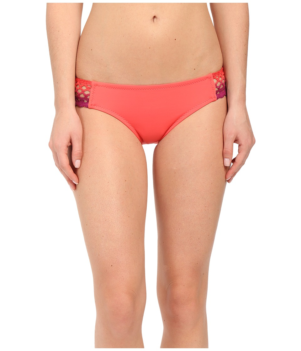 BECCA by Rebecca Virtue Sunrise Midnight Tab American Bottom Papaya Womens Swimwear