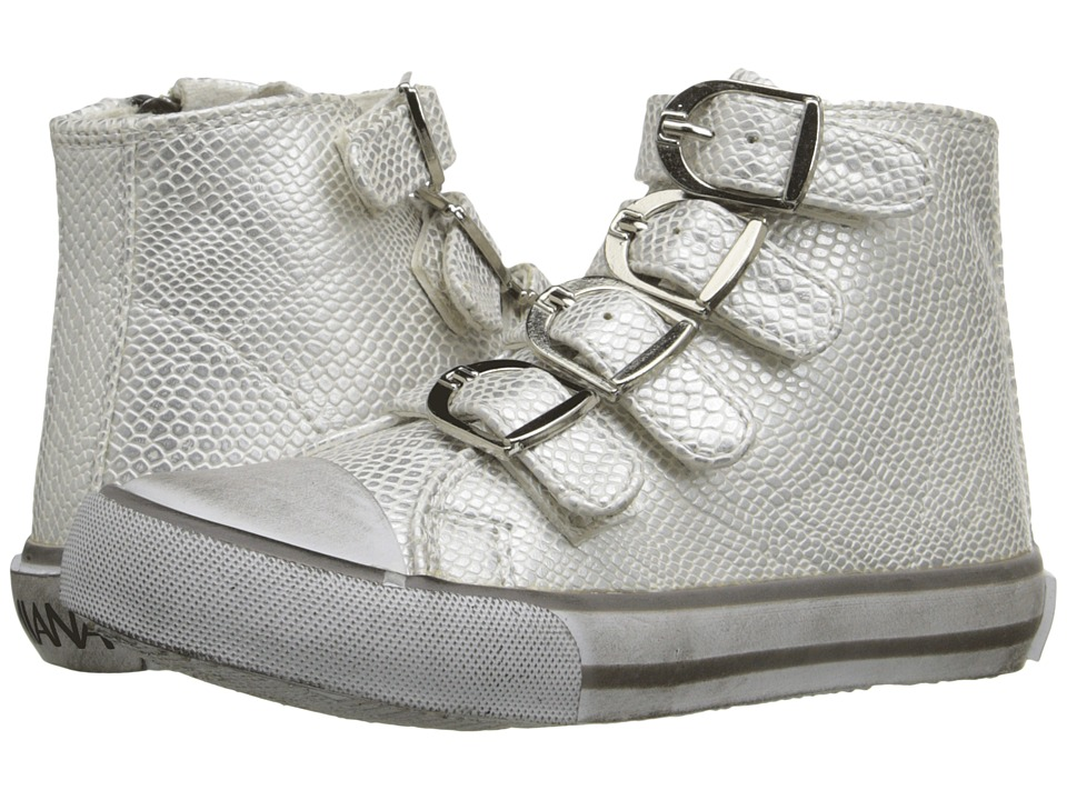 Amiana 15-A5172 (Toddler/Little Kid/Big Kid/Adult) (Silver Metallic Python) Girls Shoes