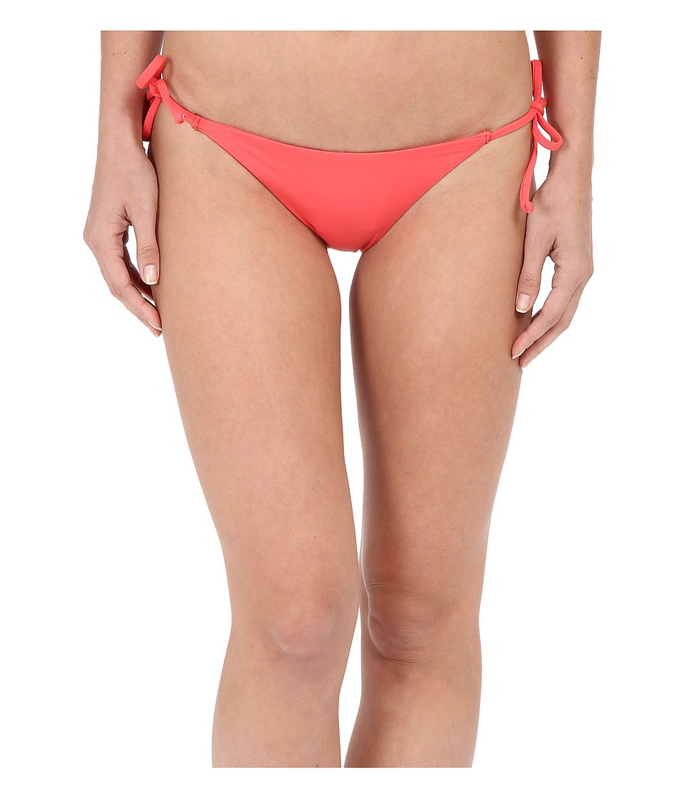 BECCA by Rebecca Virtue Color Code Tie Side Bottom Papaya Womens Swimwear