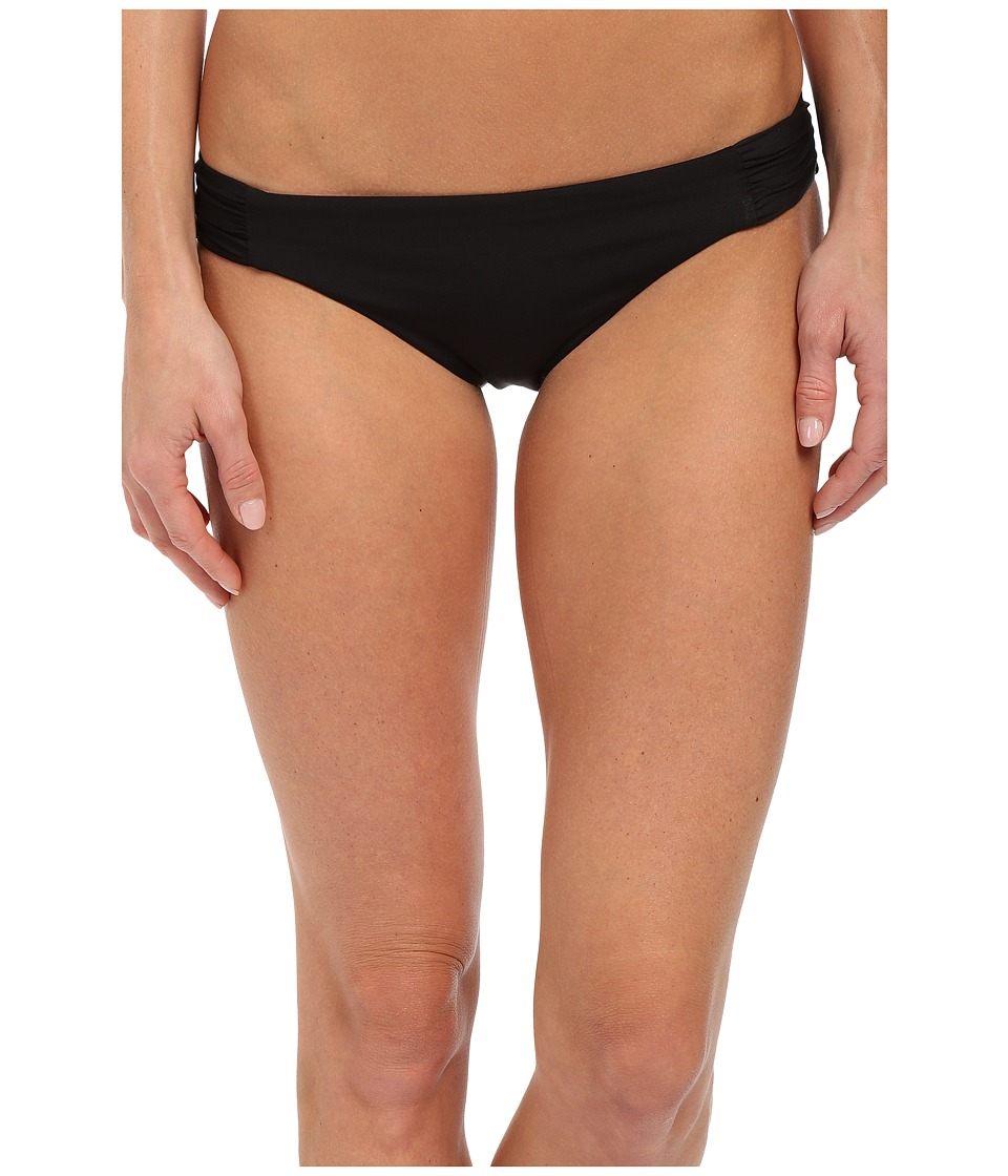 BECCA by Rebecca Virtue Color Code Tab American Bottom Black Womens Swimwear