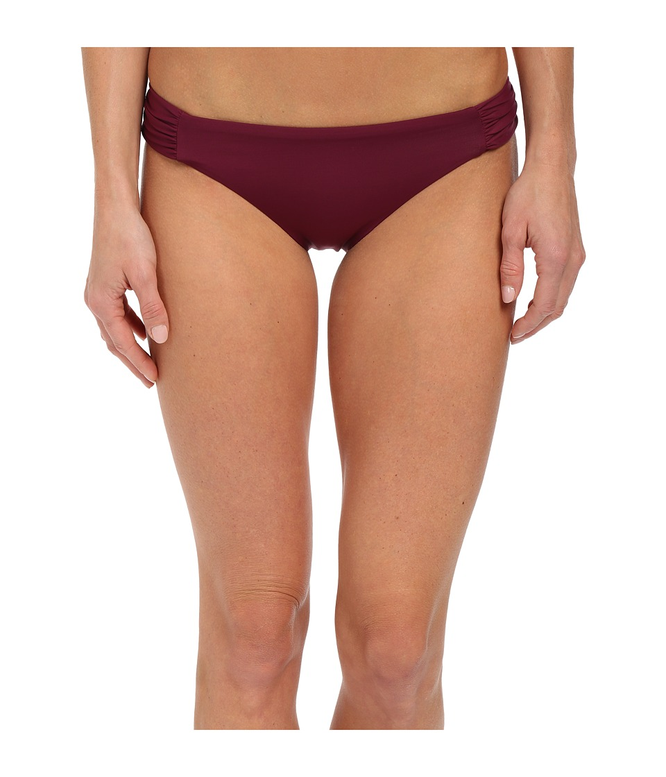 BECCA by Rebecca Virtue Color Code Tab American Bottom Marsala Womens Swimwear