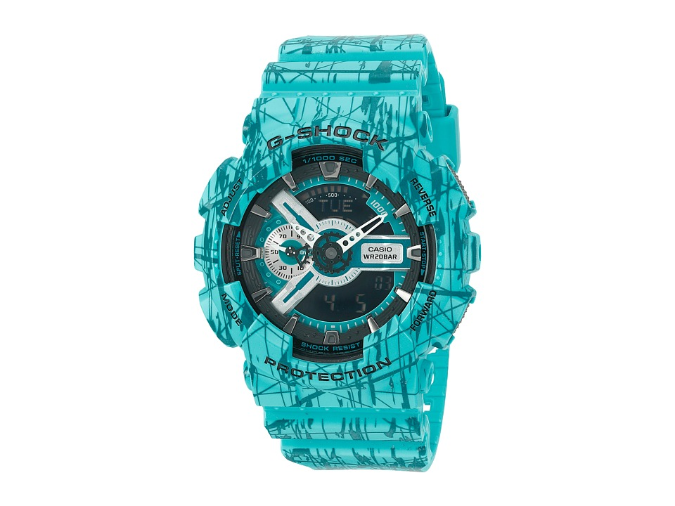 G Shock GA 110SL 3 Turquoise Sport Watches