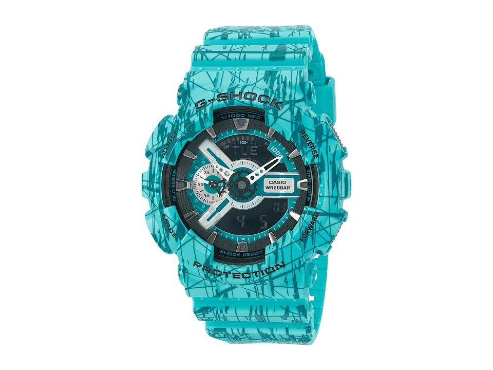 G Shock GA 110SL 3 Turquoise Sport Watches